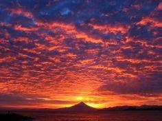 Volcan Osorno at dawn