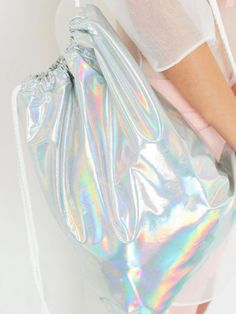 Holographic drawstring backpack
