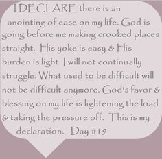 """I DECLARE Day #19 """"I Declare; 31 Promises to Speak Over Your Life"""" by Joel Osteen"""
