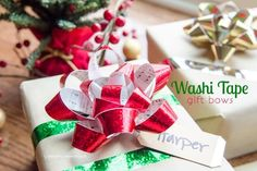 Gift Bows | Creative Ways to Personalize with Washi Tape