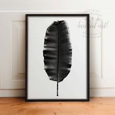 Tropical leaf PRINTABLE artbanana leaf by TheCrownPrints on Etsy