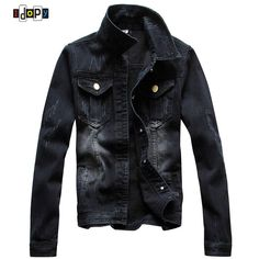 Good price Men's Casual Denim Jacket Slim Jeans Jacket Fashion Nicely Stone Washed Lapel Slim Fit Black Denim Jean Bomber Jacket For Men just only $32.52 with free shipping worldwide  #jacketscoatsformen Plese click on picture to see our special price for you
