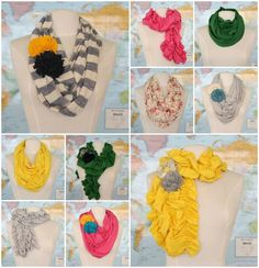 fall scarf collection from the pleated poppy