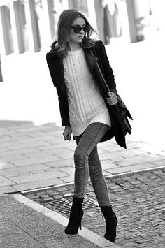 blazer and cable knit