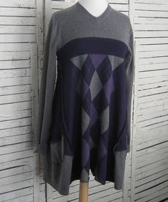Sweater Tunic L/XL Upcycled Sweaters Upcycled by AnikaDesigns