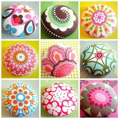 Beautiful buttons - could paint rocks like this