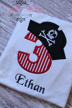 Pirate Birthday Shirt by sarahsbabyemporium on Etsy, $20.00