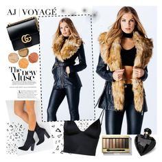 AJ VOYAGE by gaby-mil on Polyvore featuring polyvore, fashion, style, T By Alexander Wang, Gucci, Max Factor, Lipsy, Nika, clothing and ajvoyage