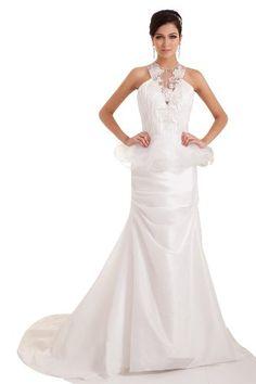 herafa p32835-2 Evening Dress Gorgeous Style High Neck Strapless Closed Back Zip Delicate Beading Embroidery Long Chapel A-line White herafa,http://www.amazon.com/dp/B00J68TSIW/ref=cm_sw_r_pi_dp_027rtb1RHZNB17RB