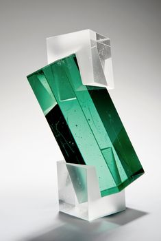 Upon first glance, I nearly mistook Heike Brachlow's glass sculptures as finely carved gems and minerals. How insanely beautiful are these colorful tones of these pieces? Brachlow draws her inspiration from travel, human interaction, architecture and geometry. Honestly, love these . . .