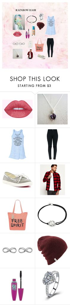 """""""Rainbow Reader"""" by hannahlarkin ❤ liked on Polyvore featuring Rock & Candy, Superdry, Arizona, Alex and Ani, Hot Diamonds and Maybelline"""
