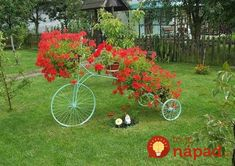 If you really want to make your garden decoration unique try these upcycling bikes projects out! Arrange beautiful flower pots and you will have diy garden Flower Planters, Flower Pots, Love Flowers, Beautiful Flowers, Landscape Design, Garden Design, Organic Horticulture, Old Bikes, Tricycle