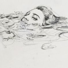 art inspo connie-lim: Ein kleines Gekritzel f - art Pencil Art Drawings, Art Drawings Sketches, Drawing Faces, Sketch Art, Sketch Ideas, Sketch Inspiration, Drawing Ideas, Drawing Designs, Art Faces