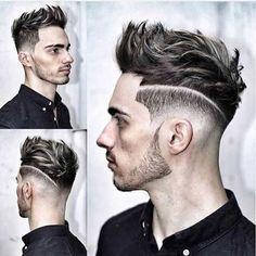 Men's Hairstyles + Haircuts For Men Trendy Mens Haircuts, Cool Hairstyles For Men, Hairstyles Haircuts, Male Haircuts, Hairstyle Ideas, Woman Hairstyles, School Hairstyles, Short Haircuts, Wedding Hairstyles