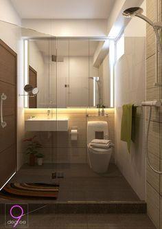 HDB   Bathroom Bathroom Store, Small Bathroom, Interior Design Singapore, Home Interior Design, Modern Bathroom Design, Bathroom Interior, Bathroom Designs, Toilet Design, Decorating Small Spaces
