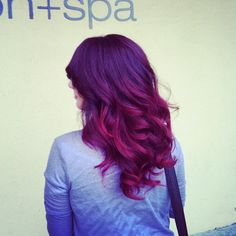 .@Danielle Lampert Smith Davis | #burgandy #ombre cut and style