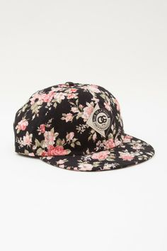 OBEY FLORAL THROWBACK HAT. Made for the girls with an easy to wear soft cap and shortened bill. #floralfrenzy