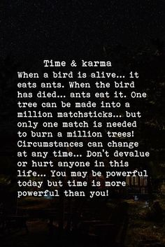 Karma never Disappoints. It ROCKS and always seems to come back and attack at just the right time! Time Quotes, Words Quotes, Wise Words, Quotes To Live By, Krama Quotes, Sayings, Karma Quotes Truths, Asshole Quotes, Great Quotes