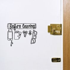 Checklist- a must for everyone. You'd be surprised how many door I have to open as an R.A.