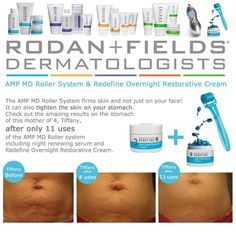 Say hello to my little blue friend!! If you are looking to tone and firm your belly flab, then our AMP MD roller with the REDEFINE night serum is what you need. http://tiffanyustick.myrandf.com/