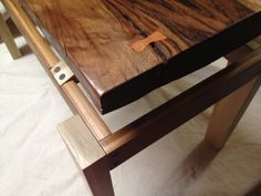 Walnut and Bamboo Bench by DJGWoodArtistry on Etsy, $135.00