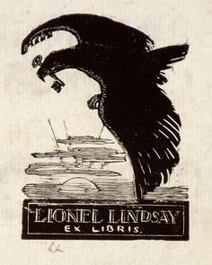 Artist: LINDSAY, Lionel | Title: Book plate: Lionel Lindsay [1] | Date: 1930 | Technique: wood-engraving, printed in black ink, from one block | Copyright: Courtesy of the National Library of Australia
