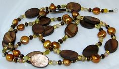 Woodsy Mother of Pearl Beaded Eyeglass Necklace by nonie615, $30.00 I can convert to a key or id badge lanyard as well.