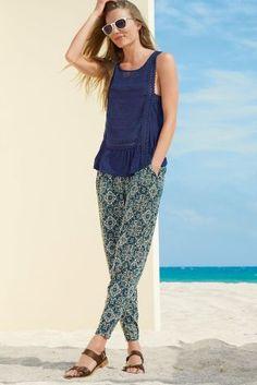 Harem Trousers navy/khaki