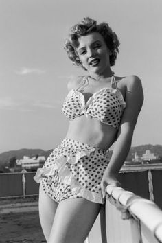 This is what bathing suits looked like the year you were born. A look back at the most popular swimsuits from the past 100 years: Marilyn Monroe, 1951