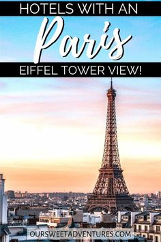 Looking for the best Paris hotel with a view of the Eiffel Tower? I have you covered. I have both affordable and luxury Paris hotels that have a beautiful balcony, are romantic, and bucket list worthy to make your trip to Paris perfect! #Travel #Paris