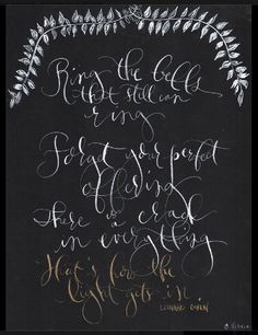 Calligraphy illustrated quote-Handwritten Made to Order