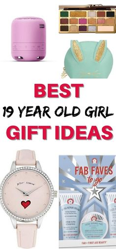 This gift guide features the best tech, beauty, makeup, fitness and craft gifts for girls age 19. These ideas will help you shop for a nineteen year old  girls birthday, Christmas, Graduation or any other special event!   Gifts for Teenage Girls Teenage Girl Gifts, Gifts For Girls, Top Gifts, Best Gifts, Girl Birthday, Birthday Gifts, 19 Year Old Girl, First Aid Beauty, Craft Gifts