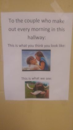 One of the English teachers at my Highschool put this in the hall outside her door - Imgur