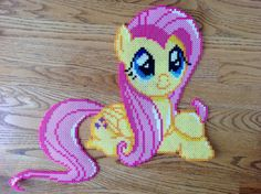{Perler} Fluttershy Being Cute by OddishPonyGirl