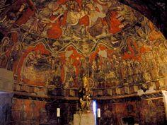 Medieval wall pictures, inside San Esteban church