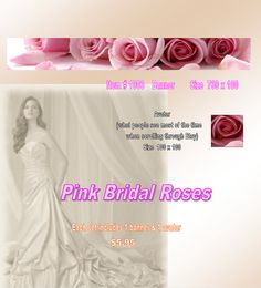 Pink Bridal Roses Banner by Banners4youCustom on Etsy, $5.95