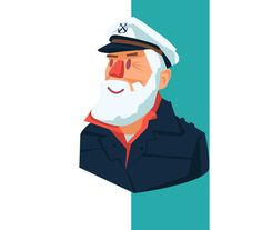 Sailor With A Beard by ChristobalMikhovski on @creativemarket
