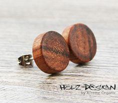 Wooden Ear studs Fake gauge Plugs wooden earrings fake piercing faux gauge mini earring small ear studs