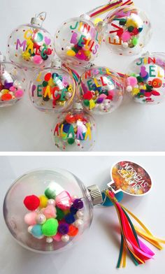 DIY personalized christmas baubles DIY colorful christmas tree ornament ideas - Gifts and Costume Ideas for 2020 , Christmas Celebration Christmas Spheres, Diy Christmas Baubles, Colorful Christmas Tree, Noel Christmas, Retro Christmas, Holiday Crafts, Mexican Christmas Decorations, Whimsical Christmas, Modern Christmas