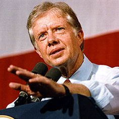 I have always admired Jimmy Carter - I voted for him in 1976! Although he is not known as the strongest or most popular president, he was a person of integrity and conviction. Since leaving office, he has worked tirelessly for human rights, alleviation of hunger, and has been a champion of Habitat for Humanity. He is the only president to have received a Nobel Peace Prize after leaving office for his humanitarian efforts. He is a great human being.