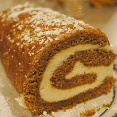 Pumpkin Roll. I know stephen doesn't like pumpkin I just want to eat all of it