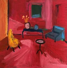Sue Kaplan: Red Lockdown Room: fine art | StateoftheART Canvas Size, Oil On Canvas, South African Artists, Shopping Day, Affordable Art, Online Art, Original Artwork, Contemporary, Room