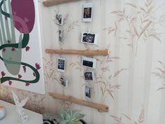 Driftwood wall art boho photo frame bedroom wall hanging | Etsy