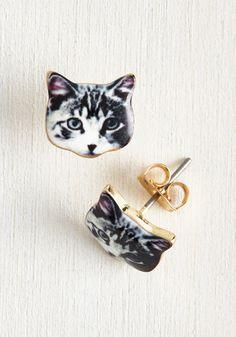 Best-Dressed in Show Earrings in Cat, #ModCloth
