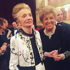 Icons: Lee Radziwill and Carla Fendi at #latraviata in #rome