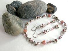 2 Piece Set  Repurposed Bracelet / Earrings by ReTainReUse on Etsy, $16.00