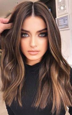Brown Hair Balayage, Brown Blonde Hair, Hair Color Balayage, Hair Color For Black Hair, Cool Hair Color, Brown Bayalage, Brown Hair Dyes, Gorgeous Hair Color, Balayage Hair Brunette Caramel