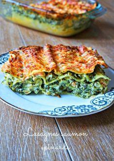 Lasagnes saumon épinards - Rappelle toi des mets Mets, Healthy Cooking, Breakfast, Food, Recipes, Gratin, Pie, Morning Coffee, Essen