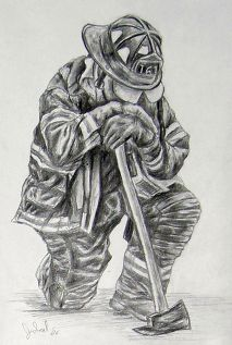 Firefighter - FIREMAN PRAYING Thank you for being in our family. Jeremy.