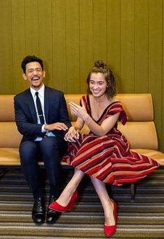 John and Haley Lu on the custom Charles Eames chair at 301 Washington offices. Parker Posey, Haley Lu Richardson, Agnes Varda, Columbus Indiana, John Cho, Restaurant Chairs For Sale, Actor John, Charles Eames, Eames Chairs